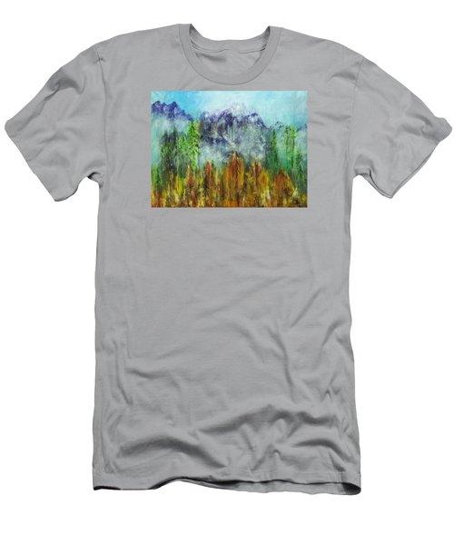 Fire In Glacier Park Men's T-Shirt (Athletic Fit)