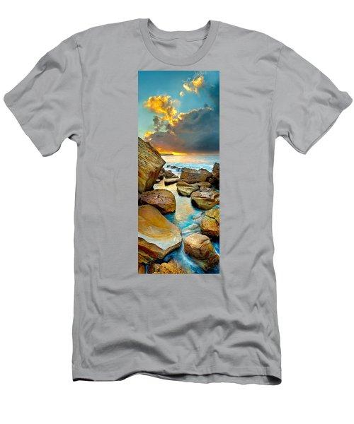 Fire In The Sky Men's T-Shirt (Slim Fit) by Az Jackson