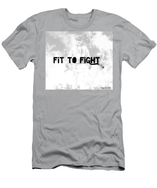 Fireman In White Men's T-Shirt (Athletic Fit)