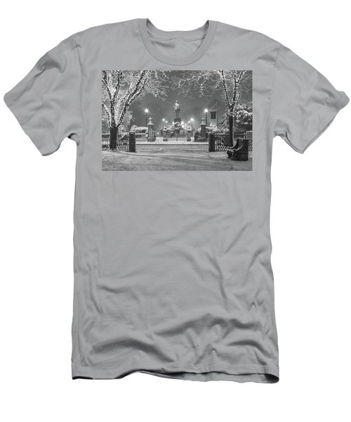 First Snow At Boston's Public Garden Men's T-Shirt (Athletic Fit)