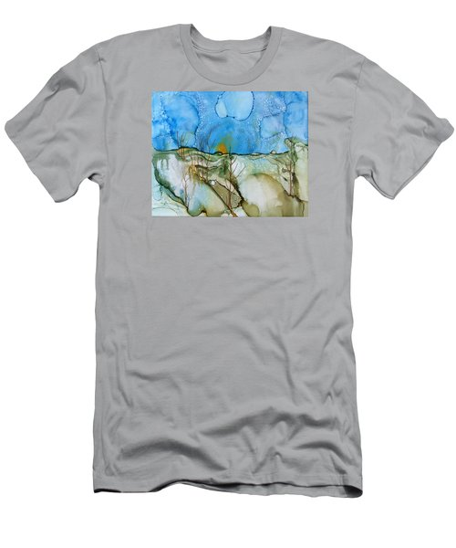 Men's T-Shirt (Slim Fit) featuring the painting First Snowfall by Pat Purdy