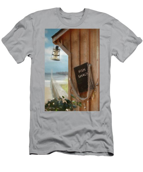 Men's T-Shirt (Slim Fit) featuring the photograph Fish Fileted by Lori Deiter