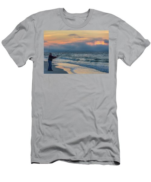 Men's T-Shirt (Slim Fit) featuring the photograph Fish On In Alabama  by John McGraw