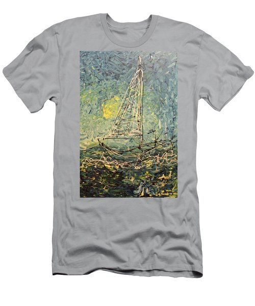 Men's T-Shirt (Athletic Fit) featuring the painting Fisherman by Blake Emory