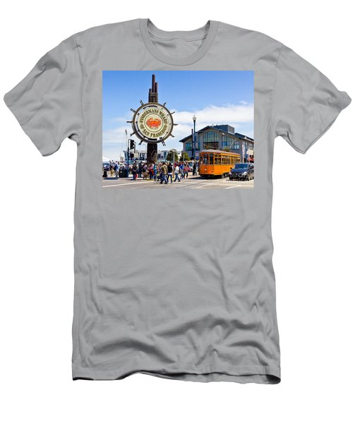 Fishermans Wharf - San Francisco Men's T-Shirt (Athletic Fit)