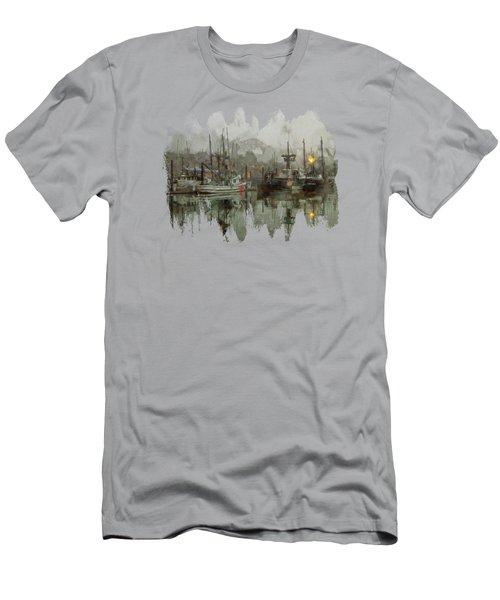 Fishing Fleet Dock Five Men's T-Shirt (Athletic Fit)