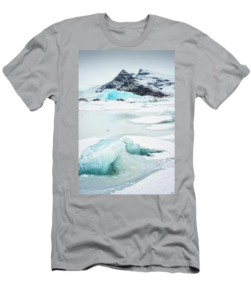 Men's T-Shirt (Slim Fit) featuring the photograph Fjallsarlon Glacier Lagoon Iceland In Winter by Matthias Hauser