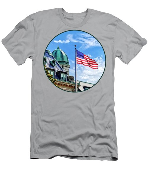 Flag Flying Over Tecumseh Court Men's T-Shirt (Athletic Fit)