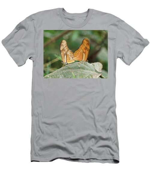 Men's T-Shirt (Athletic Fit) featuring the photograph Flambeau Butterfly - 2 by Paul Gulliver
