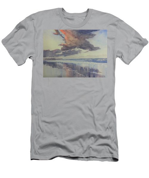 Flamborough Head From Fraisthorpe Beach Men's T-Shirt (Athletic Fit)