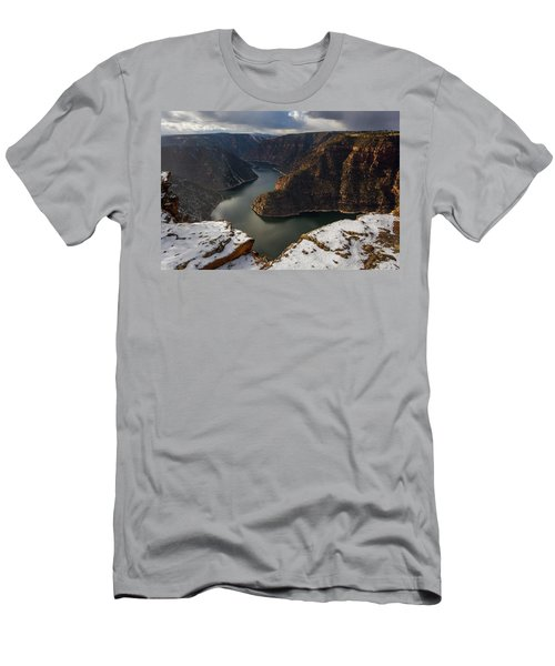 Men's T-Shirt (Athletic Fit) featuring the photograph Flaming Gorge by Dustin LeFevre