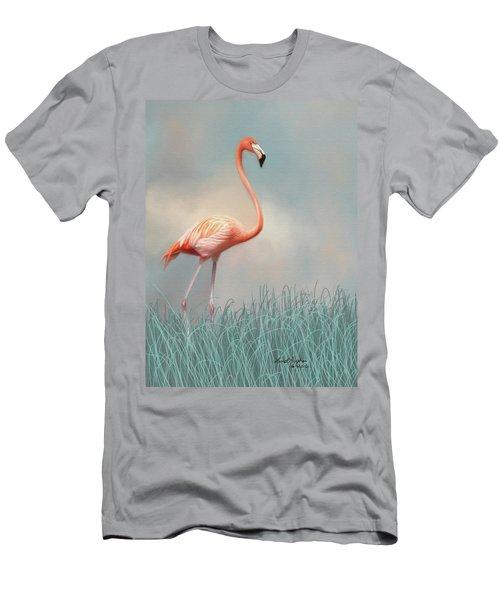 Flamingo Men's T-Shirt (Slim Fit) by Lena Auxier