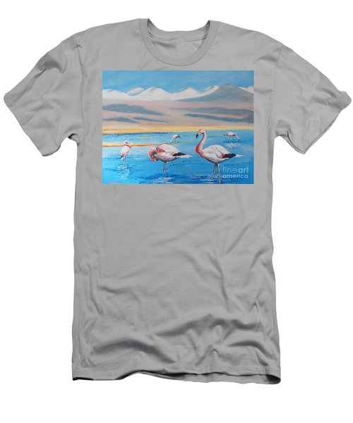 Flamingos Men's T-Shirt (Athletic Fit)