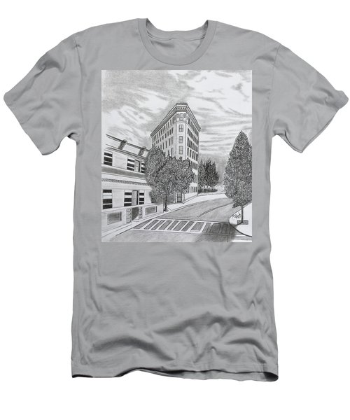 Flatiron In Asheville  Men's T-Shirt (Athletic Fit)