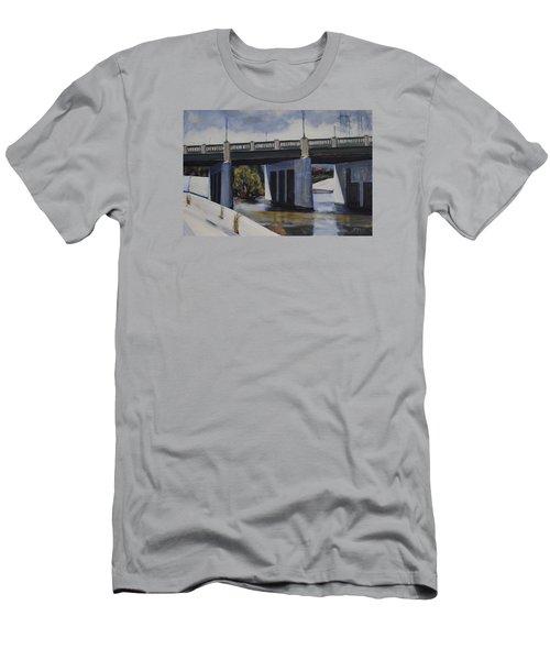 Fletcher Street Bridge Men's T-Shirt (Slim Fit) by Richard Willson
