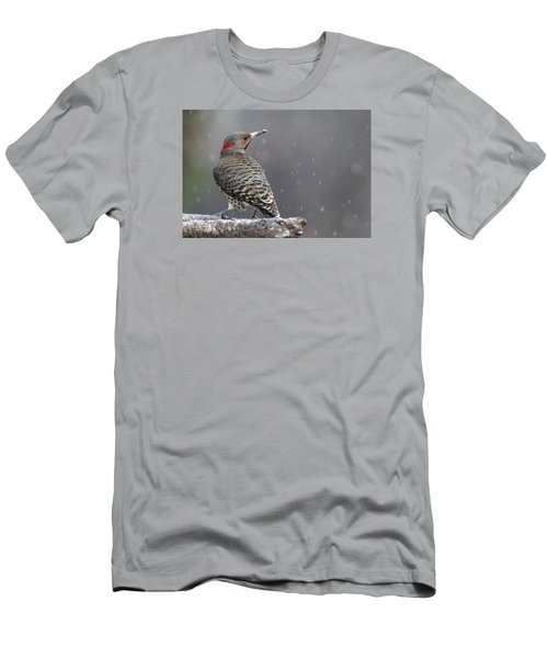 Flicker In Snowstorm Men's T-Shirt (Athletic Fit)