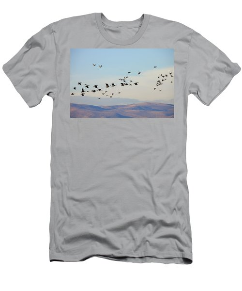 Flight Of The Waterfowl Men's T-Shirt (Athletic Fit)