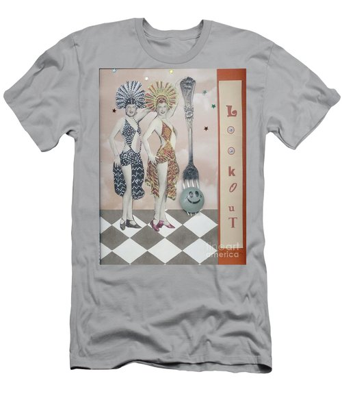 Men's T-Shirt (Slim Fit) featuring the mixed media Fling by Desiree Paquette