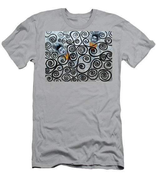 Floating Hearts Nineteen Men's T-Shirt (Athletic Fit)