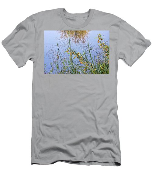 Floral Pond  Men's T-Shirt (Athletic Fit)