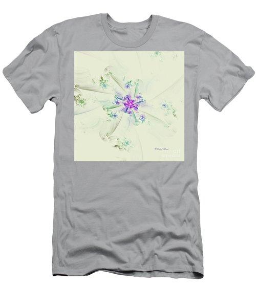 Men's T-Shirt (Slim Fit) featuring the digital art Floral Spiral by Deborah Benoit