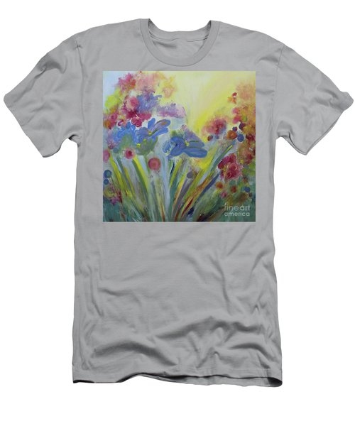 Men's T-Shirt (Slim Fit) featuring the painting Floral Splendor by Stacey Zimmerman