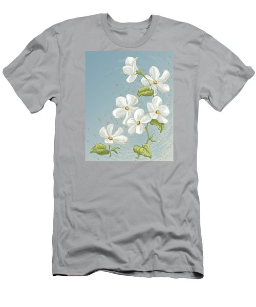 Floral Whorl Men's T-Shirt (Athletic Fit)
