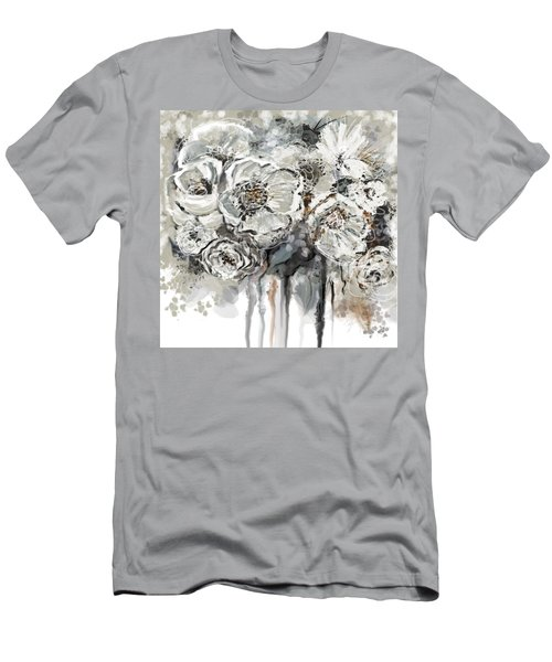 Floral Anxiety  Men's T-Shirt (Slim Fit)