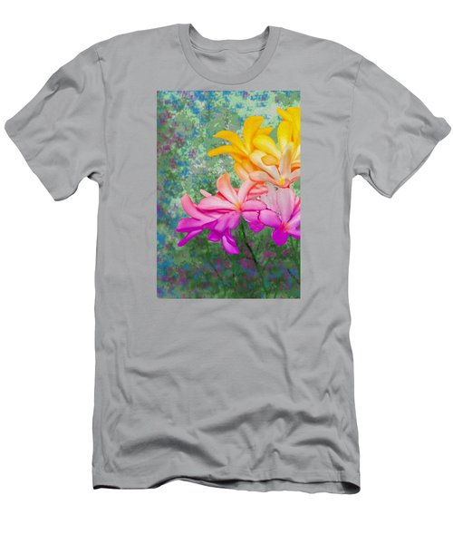 God Made Art In Flowers Men's T-Shirt (Athletic Fit)