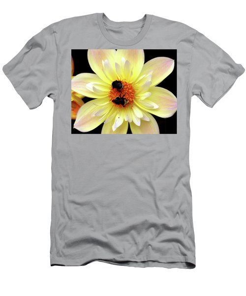 Flower And Bees Men's T-Shirt (Athletic Fit)