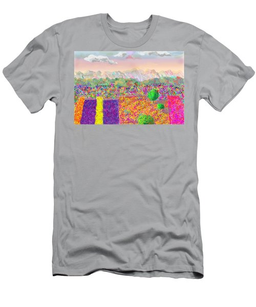 Flower Fields Men's T-Shirt (Athletic Fit)
