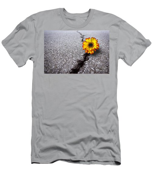 Flower In Asphalt Men's T-Shirt (Athletic Fit)