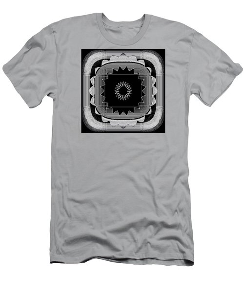 Men's T-Shirt (Slim Fit) featuring the digital art Flower In Black And White by Carolyn Repka