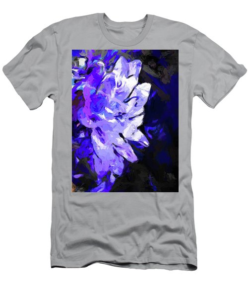 Flower Lavender Lilac Blue Men's T-Shirt (Athletic Fit)