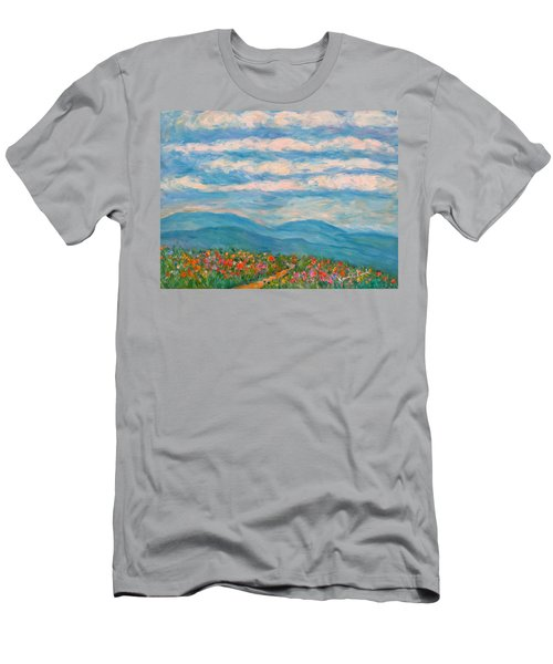 Men's T-Shirt (Athletic Fit) featuring the painting Flower Path To The Blue Ridge by Kendall Kessler