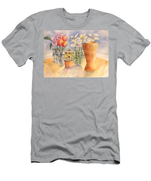 Flowers And Terra Cotta Men's T-Shirt (Athletic Fit)