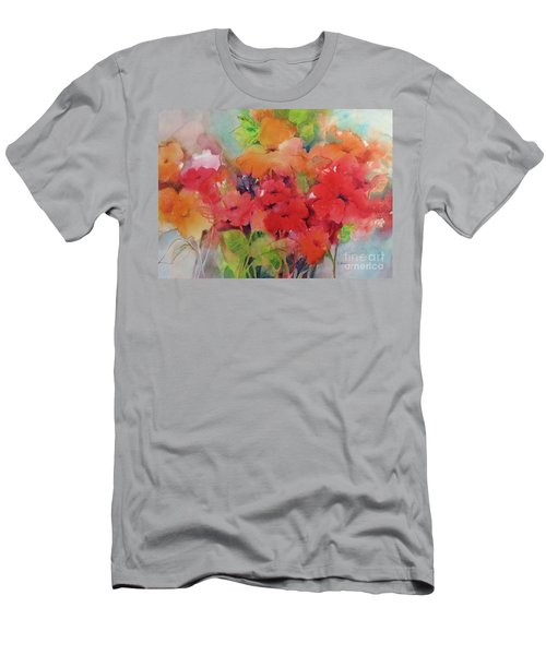Men's T-Shirt (Athletic Fit) featuring the painting Flowers For Peggy by Michelle Abrams