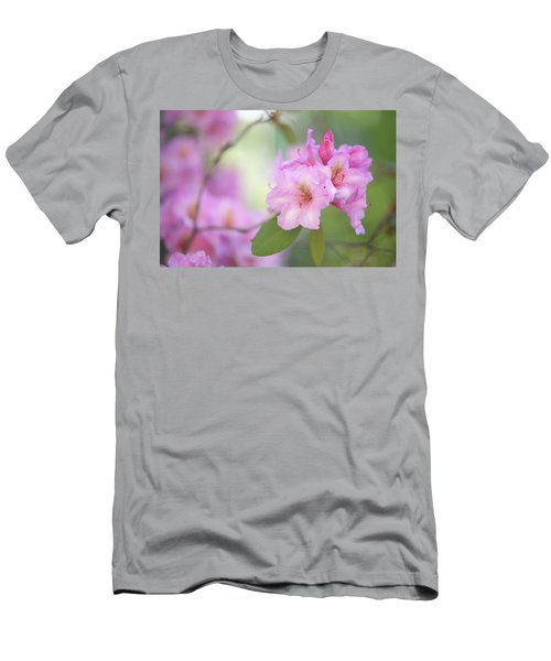 Flowers Of Pink Rhododendron Men's T-Shirt (Athletic Fit)