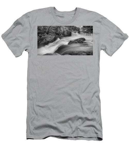 Flowing Waters At Kern River, California Men's T-Shirt (Slim Fit) by John A Rodriguez
