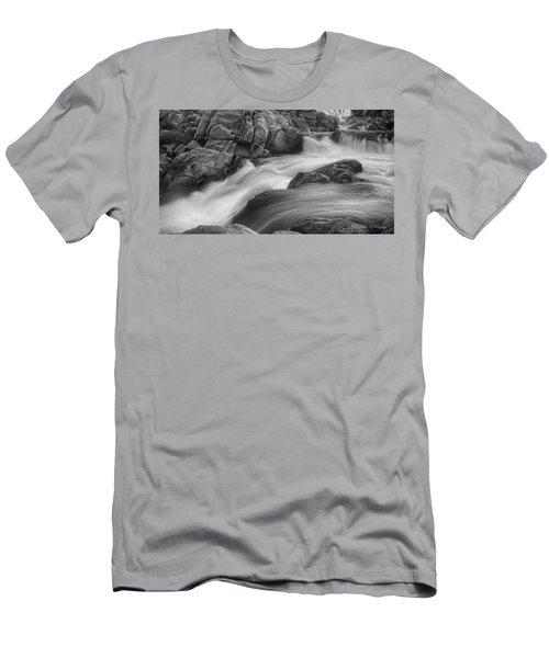 Flowing Waters At Kern River, California Men's T-Shirt (Athletic Fit)