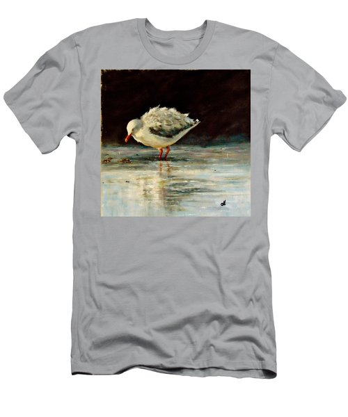 Men's T-Shirt (Slim Fit) featuring the painting Fluffy Jonathan.. by Cristina Mihailescu