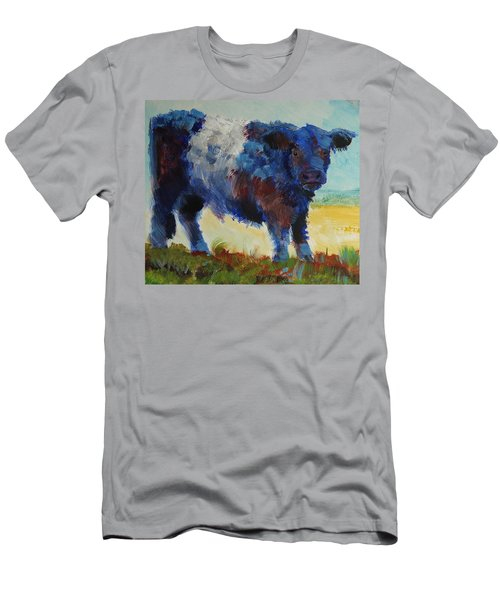 Fluffy Shaggy Belted Galloway Cow - Cow With A White Stripe Men's T-Shirt (Athletic Fit)