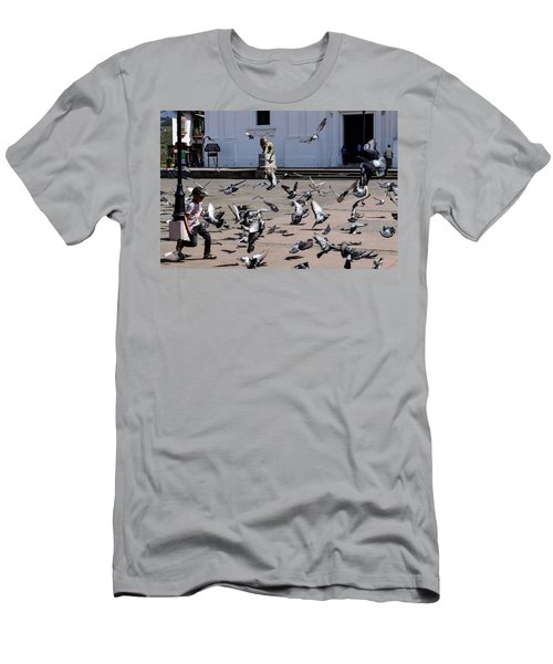 Fly Birdies Fly Men's T-Shirt (Athletic Fit)