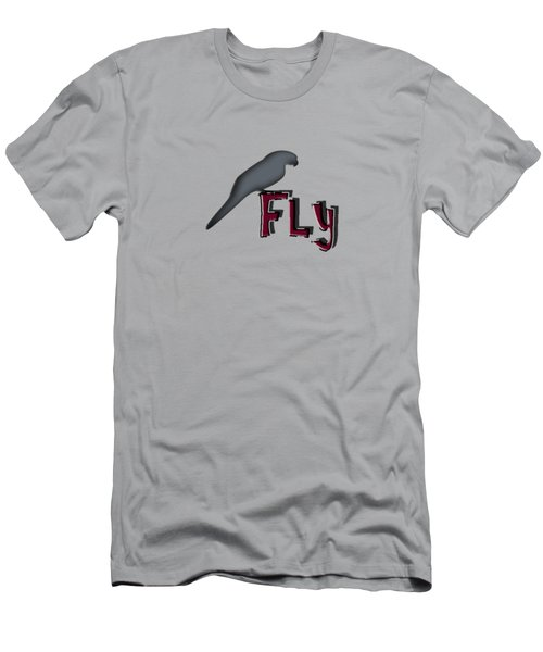 Men's T-Shirt (Slim Fit) featuring the digital art Fly by Mim White