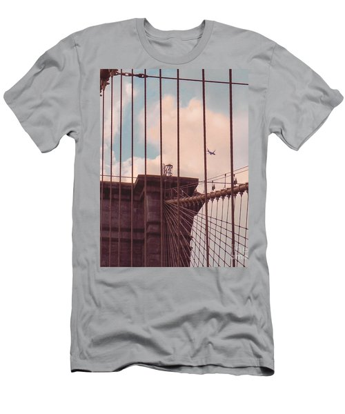 Fly Over Brooklyn  Men's T-Shirt (Athletic Fit)