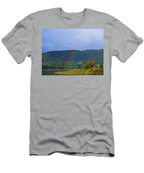 Fly Over The Rainbow Men's T-Shirt (Athletic Fit)