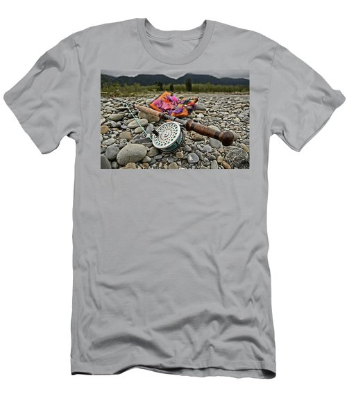 Fly Rod And Streamers Landscape Men's T-Shirt (Athletic Fit)
