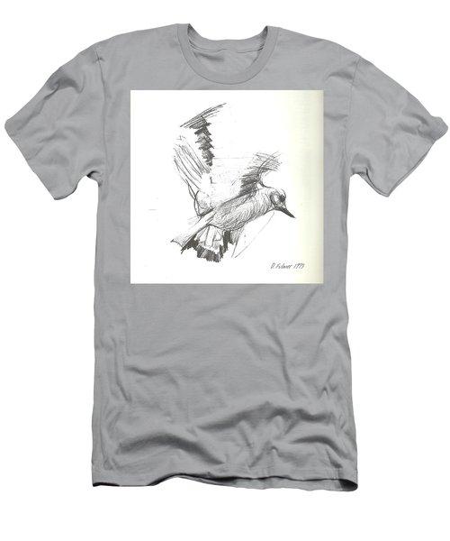Flying Bird Sketch Men's T-Shirt (Athletic Fit)