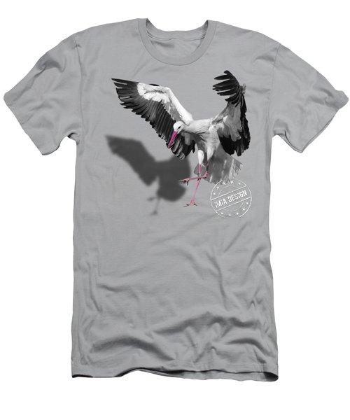 Flying Stork No 01 Men's T-Shirt (Athletic Fit)