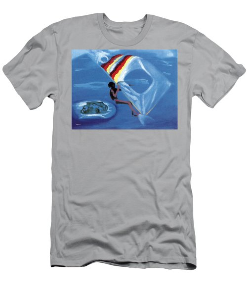 Flying Windsurfer Men's T-Shirt (Athletic Fit)